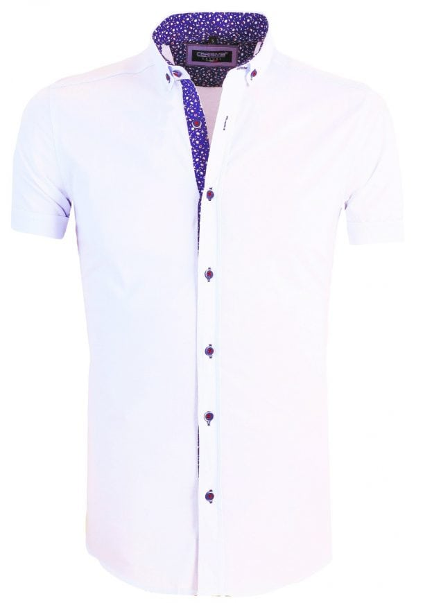 Overhemd Korte Mouw Heren.Carisma Heren Overhemd Korte Mouw Gewerkt Wit 9094 Bendelli