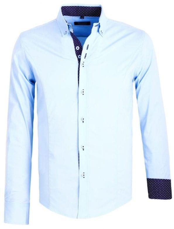 Heren Overhemden Italiaans Carisma Blauw 1 Large