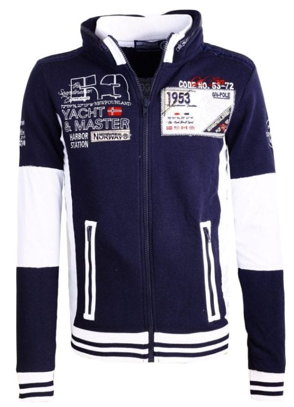Heren Vesten Geographical Norway Fairbanks Blauw Bendelli 55 Large