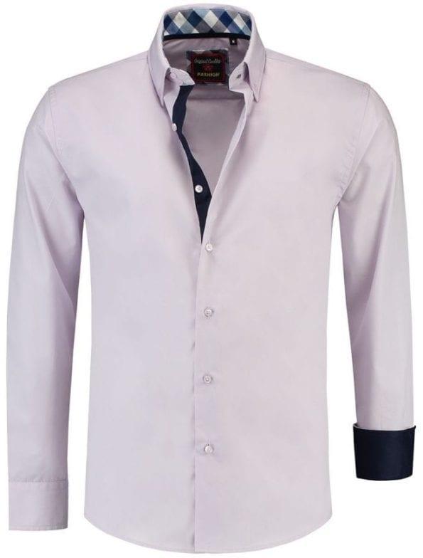 Italiaanse Overhemden Martino Milano Paars 150006