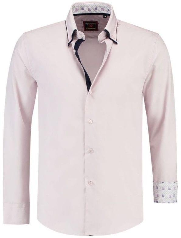 Italiaanse Overhemden Martino Milano Roze 150008