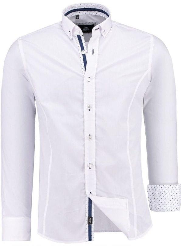 Jeel Fashion Italiaanse Overhemden Met ellebogpads Wit 2