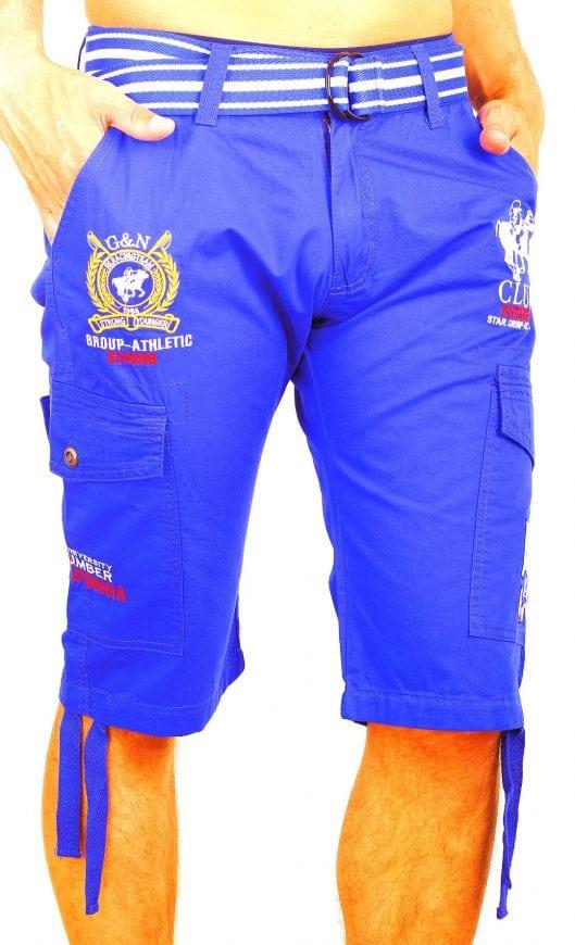 Korte Broek Heren Blauw.Rivaldi Bermuda Short Heren Bard Club Collectie Blauw Bendelli