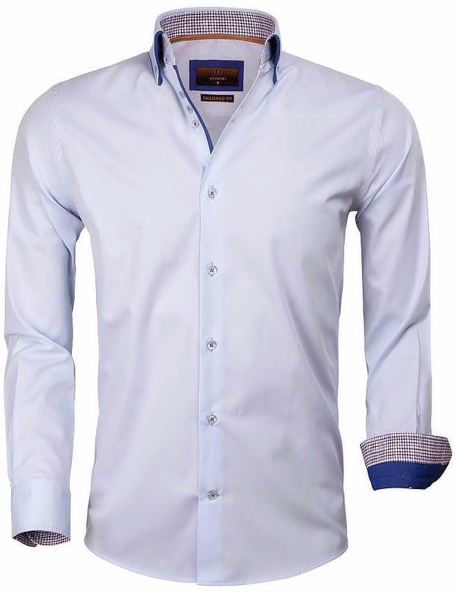 Kraag Dubbele Lichtblauw Gaznawi Heren 65005 Overhemd Bendelli CrdxoBe