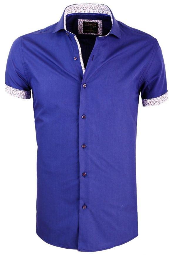 Overhemd Korte Mouw Heren Donkerblauw Goedkoop Online Enrico Polo 1 Large