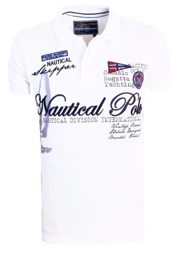 Poloshirt Heren Polos Rivaldi Bedrukt Wit 4 Large