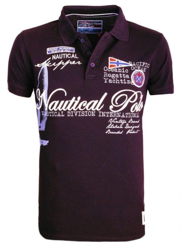 Poloshirt Heren Polos Rivaldi Bedrukt Zwart 16 Large
