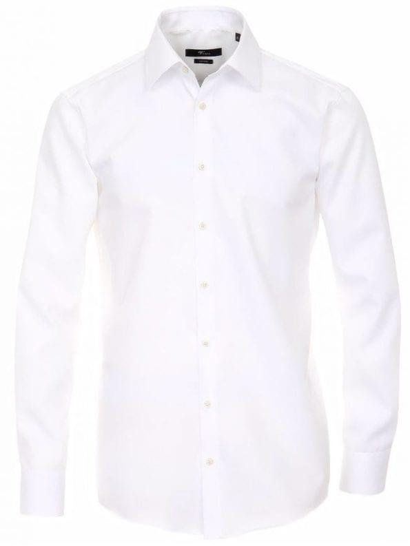 Venti heren overhemden wit lange mouw kent kraag slim fit 001480 0 voorkant 1