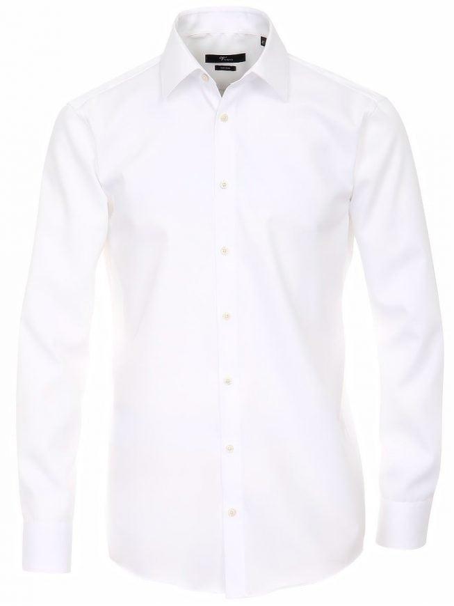 Slim Fit Heren Overhemd.Venti Heren Overhemd Wit Strijkvrij Slim Fit Poplin 1480 Bendelli