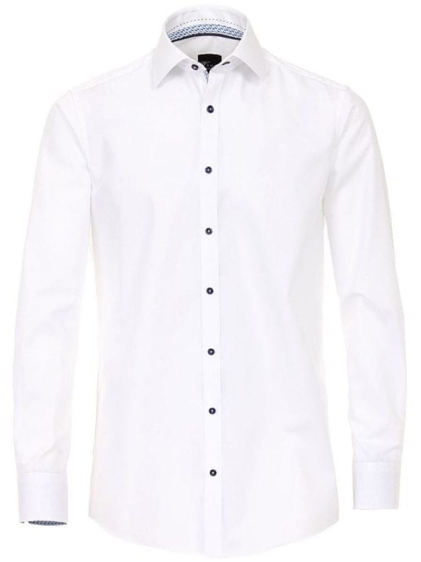 Venti heren overhemden wit lange mouw kent kraag slim fit183054800 000 voorkant 1