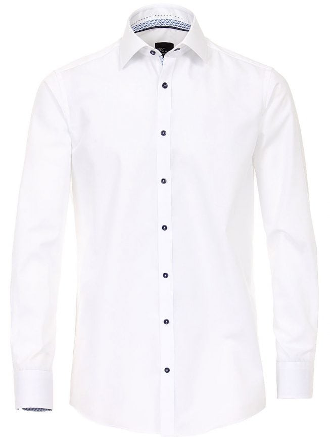 Overhemd Wit Slim Fit.Venti Heren Overhemd Wit Strijkvrij Slim Fit Poplin 183054800 Bendelli