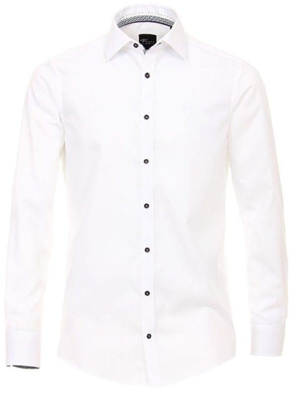 Venti heren overhemden wit lange mouw kent kraag slim fit183054800 001 voorkant 1