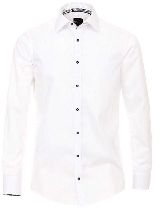 Overhemd Wit Slim Fit.Venti Heren Overhemd Wit Strijkvrij Slim Fit Poplin 183054800 1