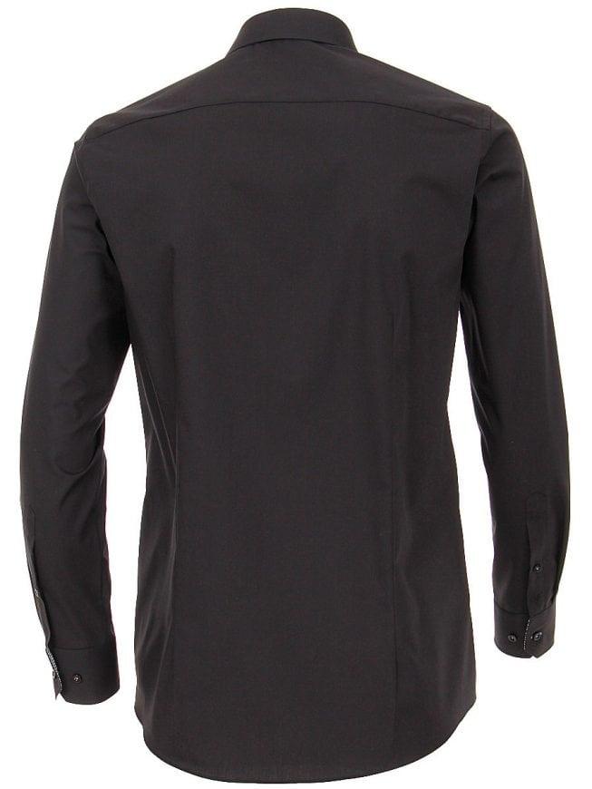 Overhemd Zwart Slim Fit.Venti Heren Overhemd Zwart Strijkvrij Slim Fit Poplin 183054800