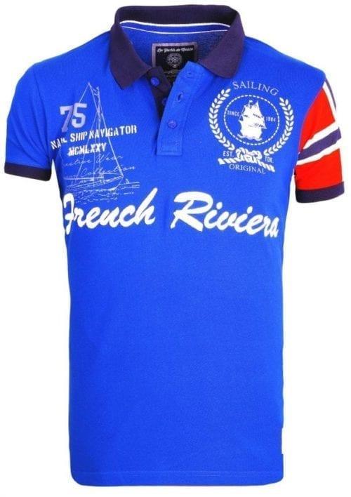 Voordelige Herenpolos Rivaldi Poloshirt Korte Mouw Royal Blauw 1 Large