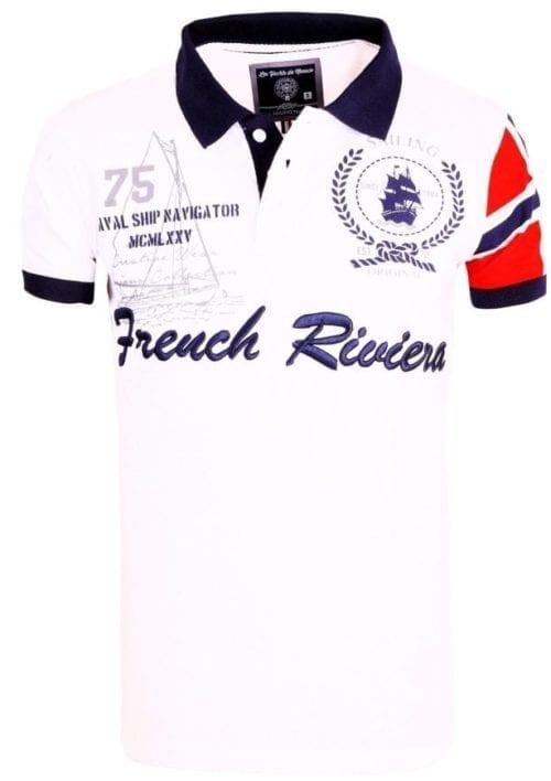 Voordelige Herenpolos Rivaldi Poloshirt Korte Mouw Wit 2 Large