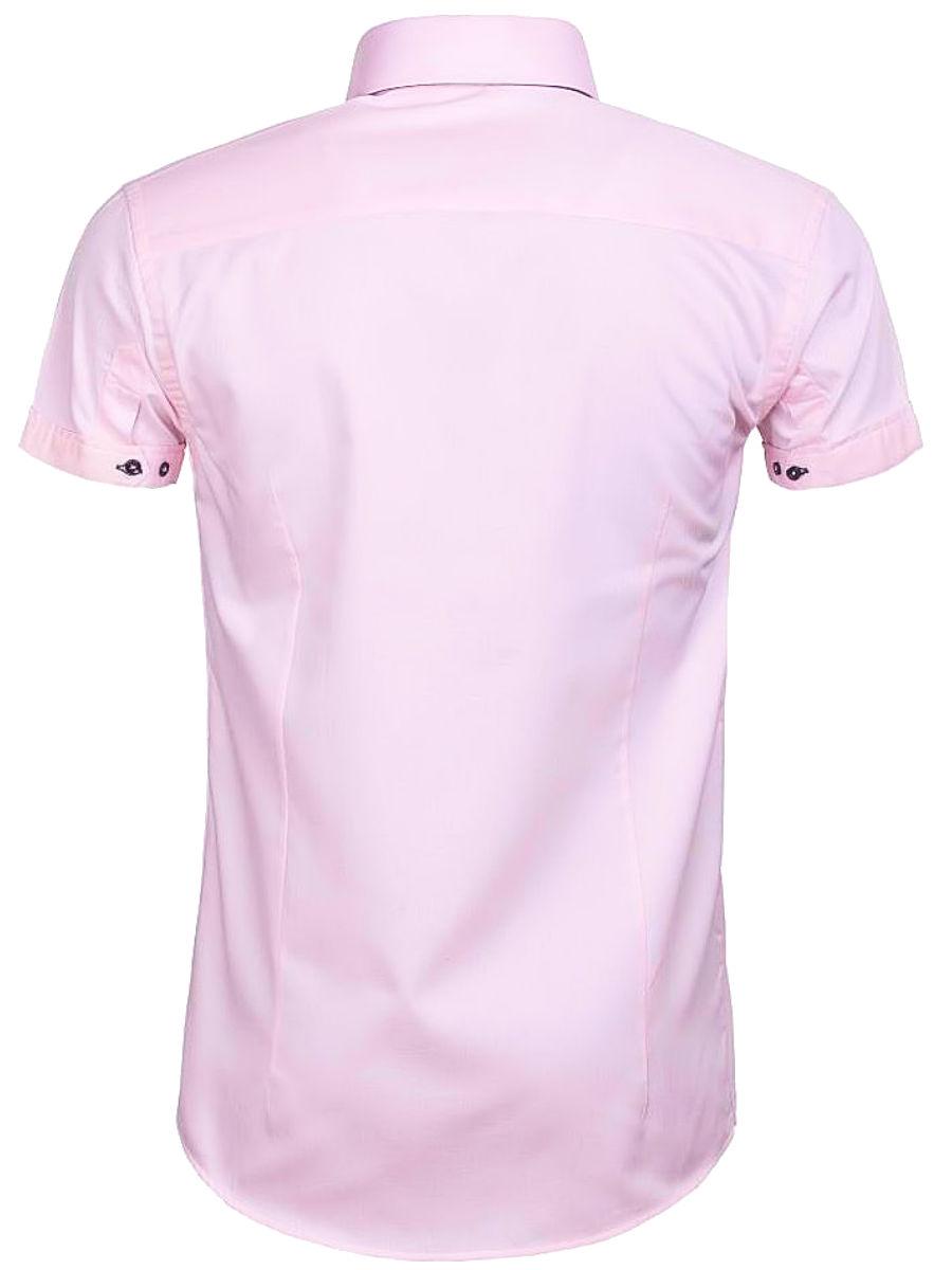 Roze Overhemd Heren Korte Mouw.Wam Denim Overhemd Korte Mouw Roze Novara 75557 Bendelli