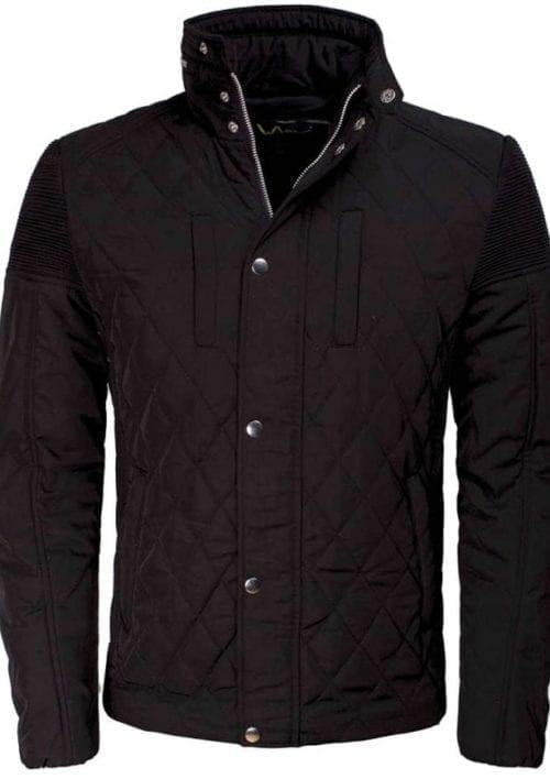 Wam Denim jas zwart heren jack geruit motief 71223 voorkant