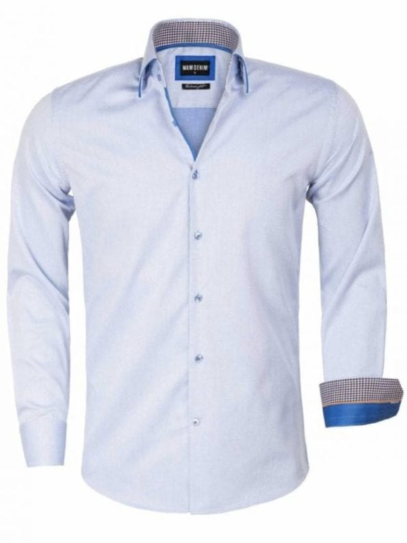 Wam Denim overhemd Isernia blauw 75559 voorkant