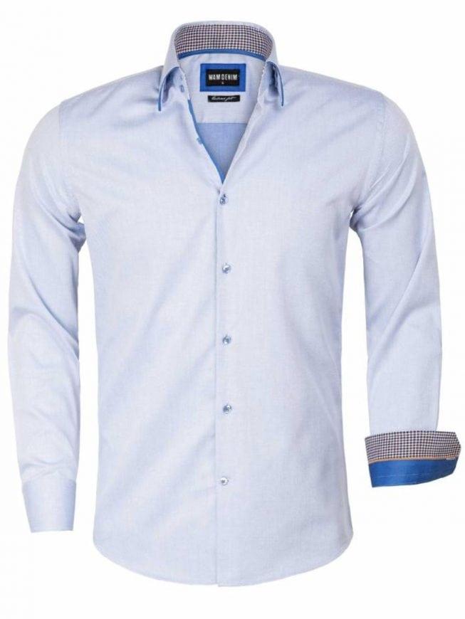 Overhemd Blauw.Wam Denim Overhemd Blauw Isernia 75559 Bendelli