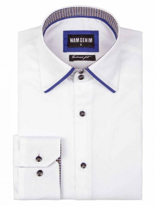 Wam Denim overhemd Isernia wit 75559 opgevouwen