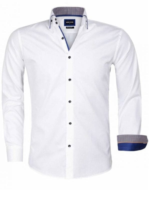 Wam Denim overhemd Isernia wit 75559 voorkant