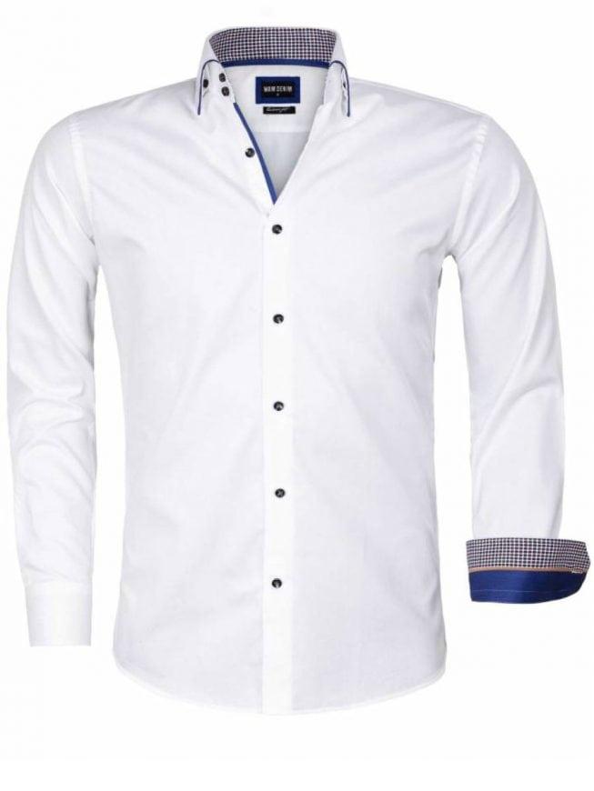 Overhemd Wit.Wam Denim Overhemd Wit Isernia 75559 Bendelli
