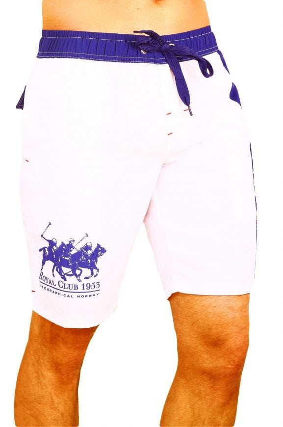 Zwembroek Geographical Norway Zwemshorts Ropyal Polo Wit Model 1 Large