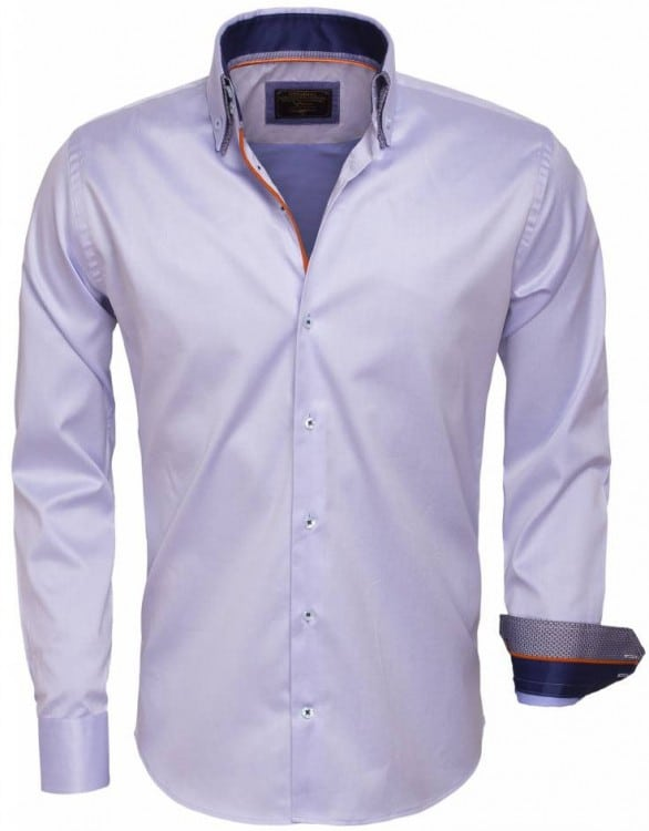 italiaanseoverhemdenwam denim overhemd 75397 lichtblauwbendelli