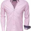wam denim Italiaans overhemd 75223 pink