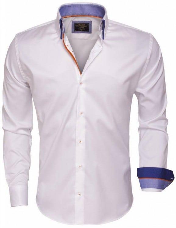 wam denim overhemd 75408 white