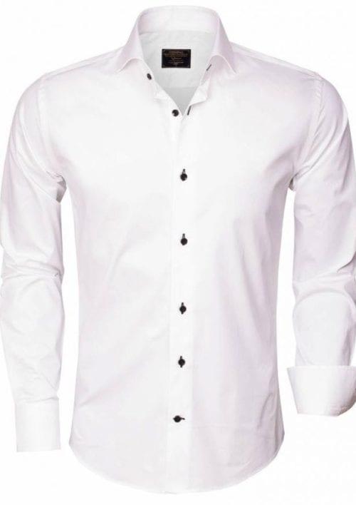 wam denim overhemd lange mouw 75290 white