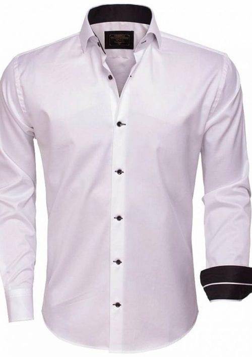 wam denim overhemd lange mouw 75394 white