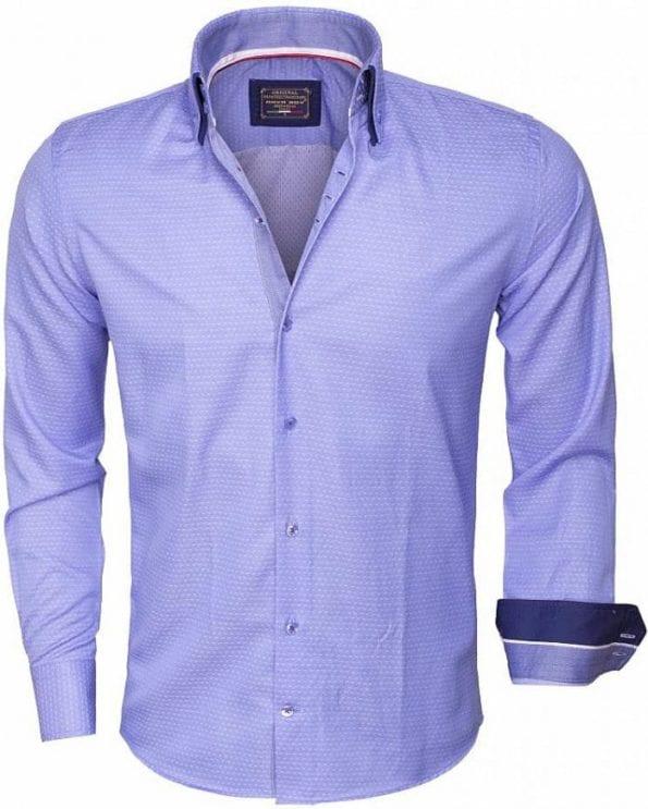 wam denim overhemd lange mouw 85262 blue Bendelli