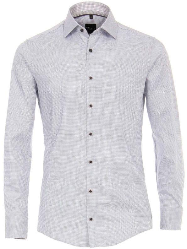 Venti overhemden heren strijkvrij edition modern fit gewerkt grijs 193133600 750 1