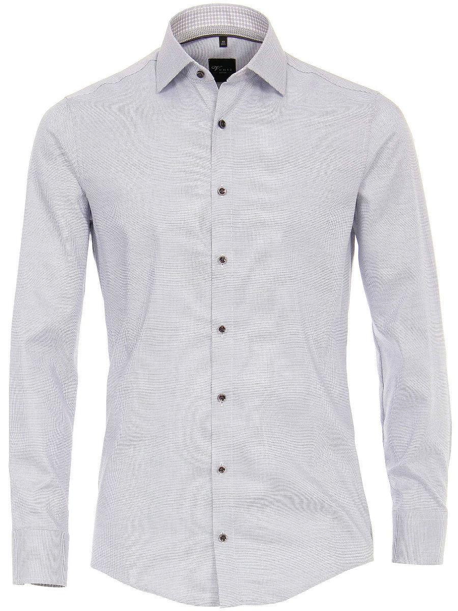Grijs Overhemd Heren.Venti Poplin Heren Overhemd Antraciet Strijkvrij Body Fit 193133600