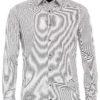 Venti overhemden heren strijkvrij edition modern fit gewerkt grijs 193133700 750 1