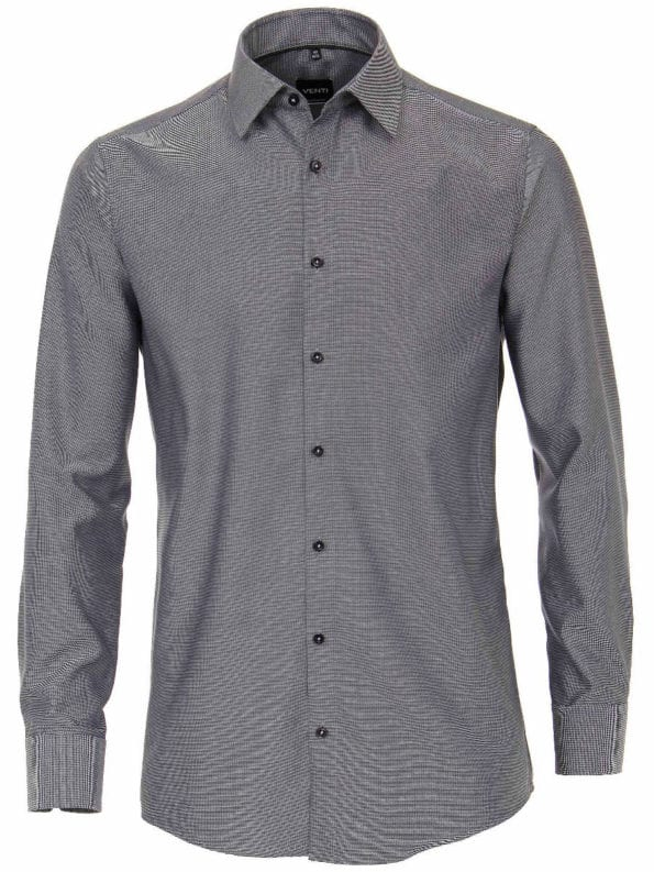 Venti overhemden heren strijkvrij edition modern fit poplin gewerkt zwart193158000 800 1