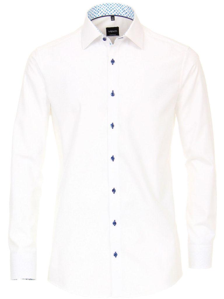 Venti overhemden heren strijkvrij edition modern fit poplin wit 193133900 000 1
