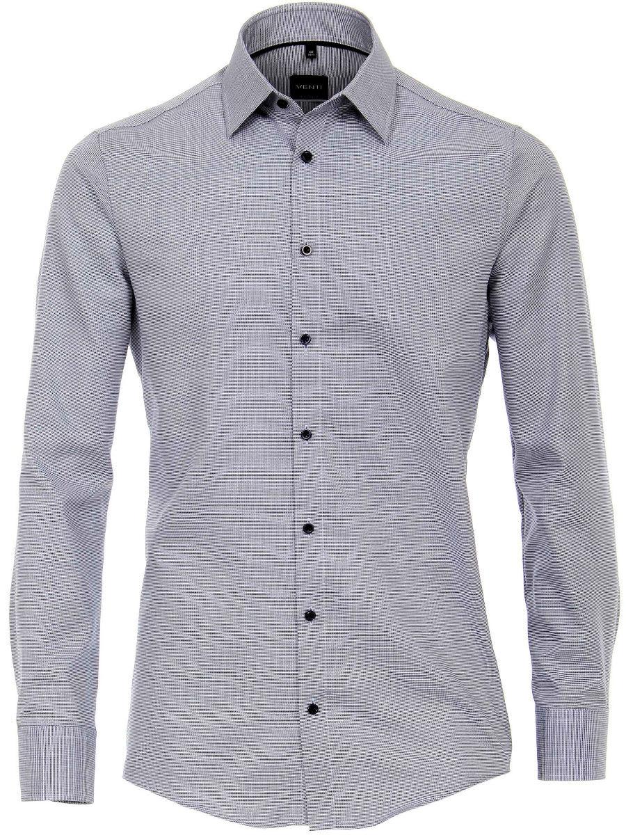 Donkerblauw Overhemd.Venti Overhemd Heren Donkerblauw Strijkvrij Modern Fit 193158000