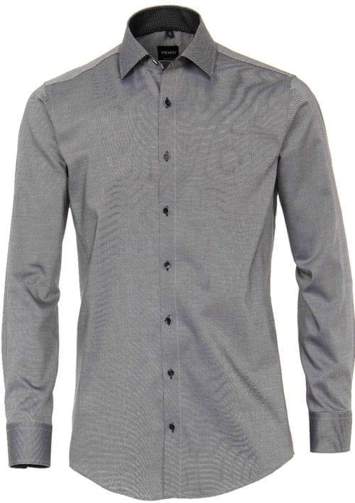 Venti overhemden heren strijkvrij edition modern fit zwart 183055300 800 3 2