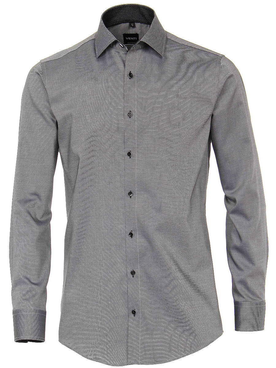 Overhemd Zwart Heren.Venti Heren Overhemd Zwart Strijkvrij Modern Fit Oxford 183055300