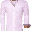 Wam Denim overhemden wit dubbele boord Roma 75428 voorkant
