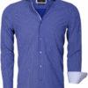 Gaznawi overhemd lichtblauw motief 65013 light navy Brindisi voorkant