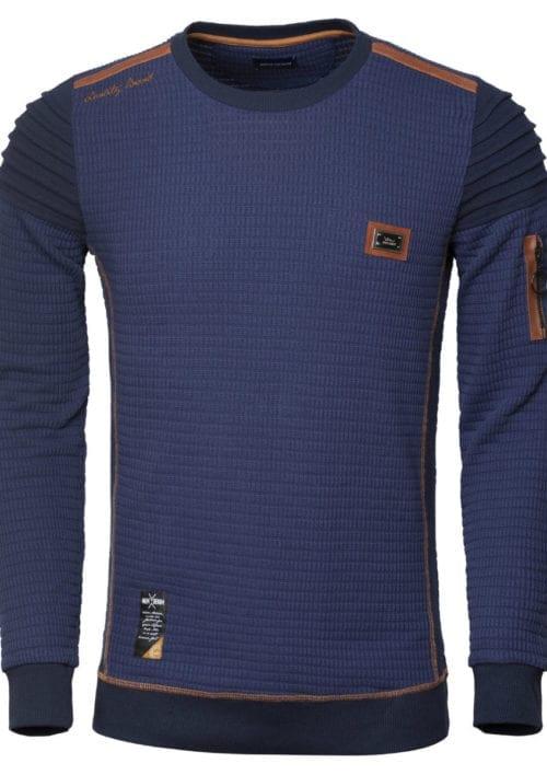 Wam Denim trui ronde hals heren Sweater 76226 Fremont Navy voorkant