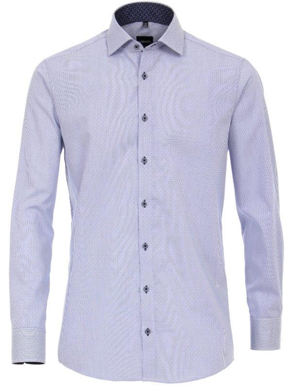 Venti overhemd blauw strijkvrij slimfit 193135700