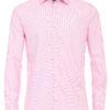 Venti overhemd rood kent boord motief print strijkvrij slimfit shirt 193133600 400