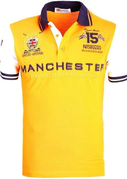 Geographical Norway Polo Shirt Oranje Kingston Manchester Buckingham Great Britain (1)
