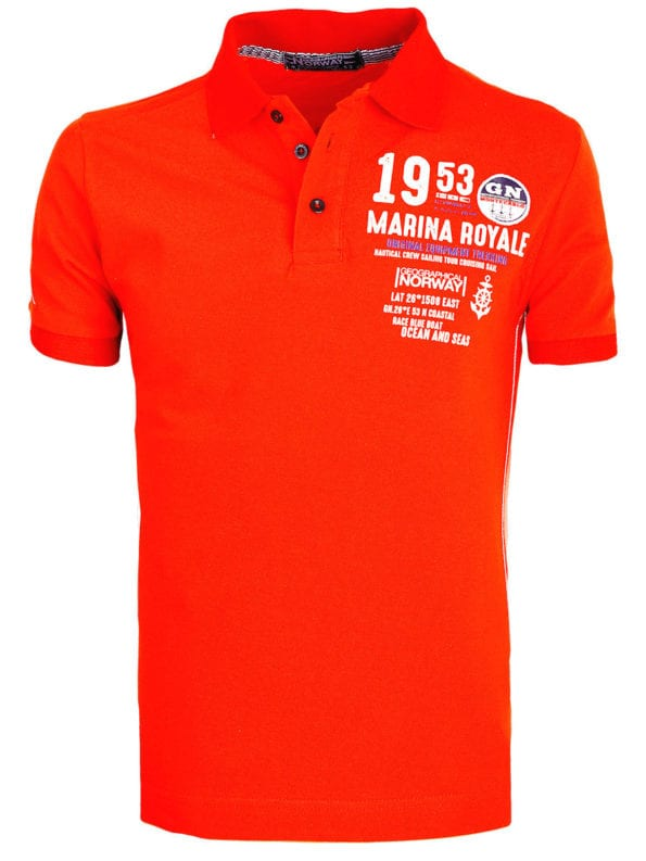 468345f9e533db Geographical Norway Polo Shirt Rood Marina Royale Kadre