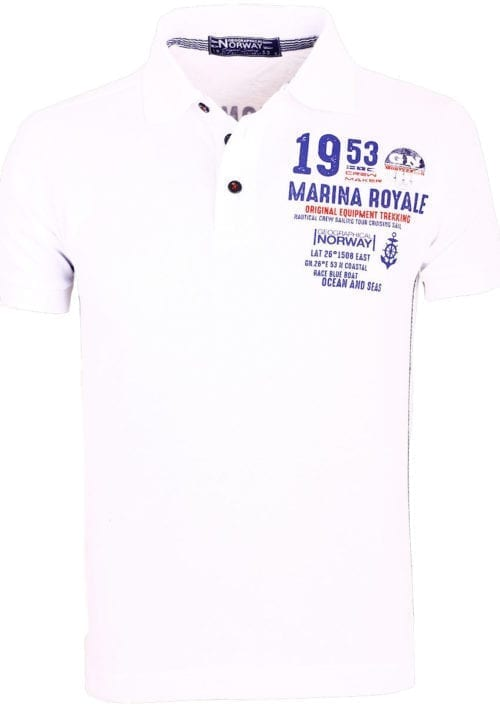 Geographical Norway Polo Shirt Wit Kadre Marina Royale Monte Carlo (1)